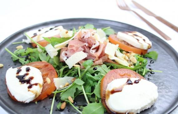 salade met parmaham en balsamico