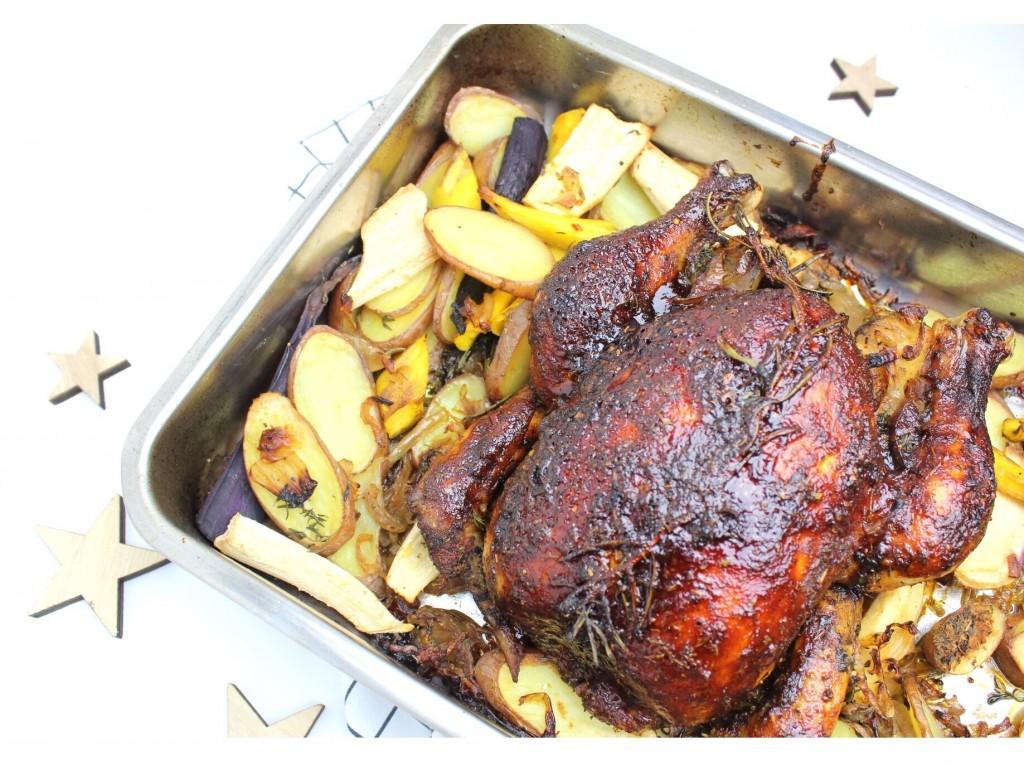 Kerstkip uit de oven
