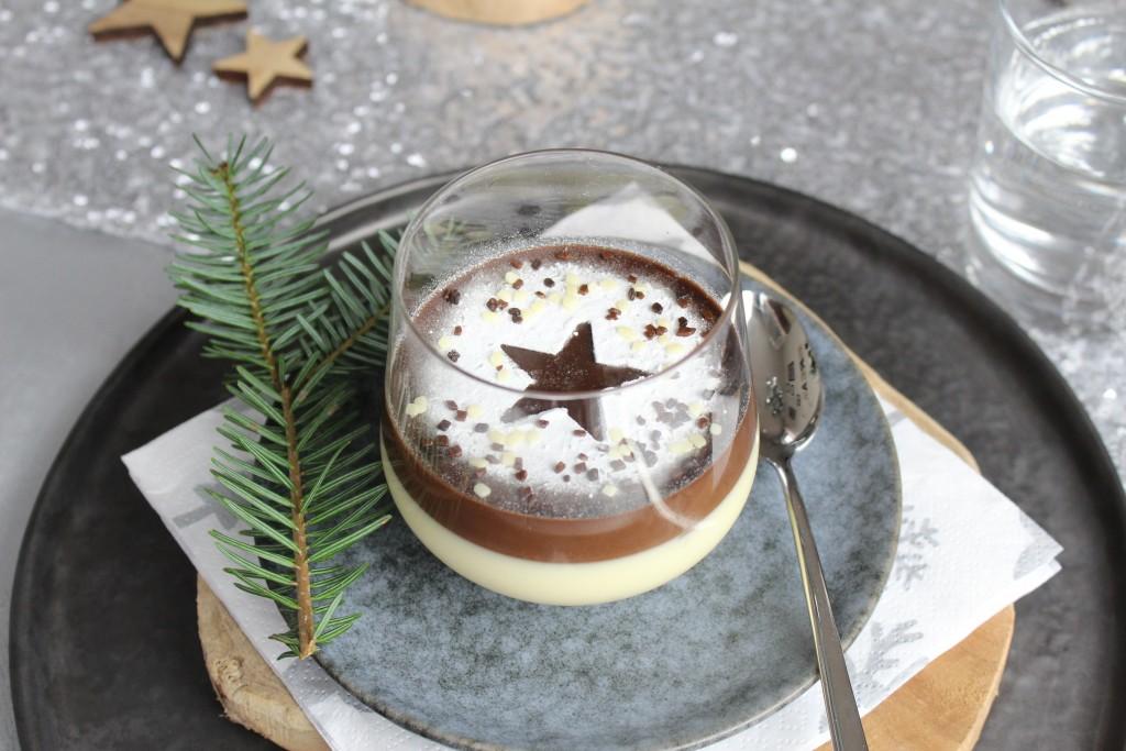 drie soorten chocolade panna cotta