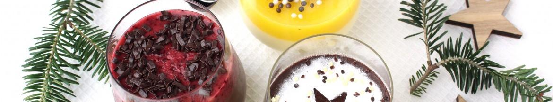 3 soorten chocolade pannacotta