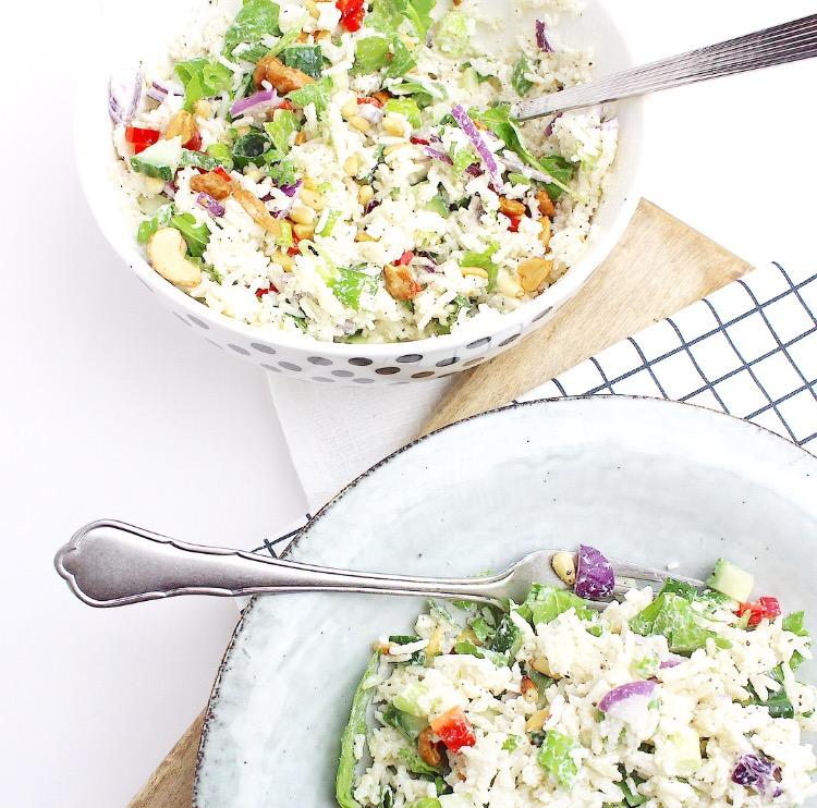 frisse rijstsalade met cashewnoten