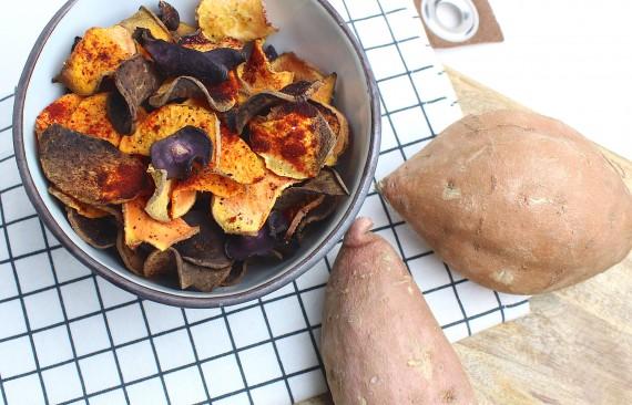 krokante groente chips uit de oven