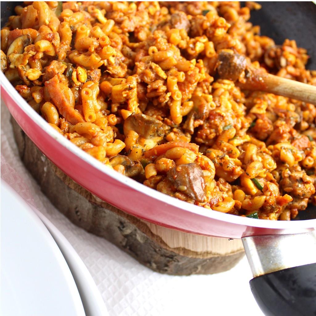 Simpele goed gevulde macaroni..