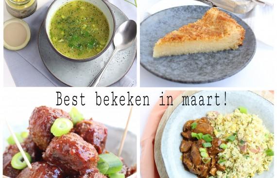 De best bekeken recepten van maart!