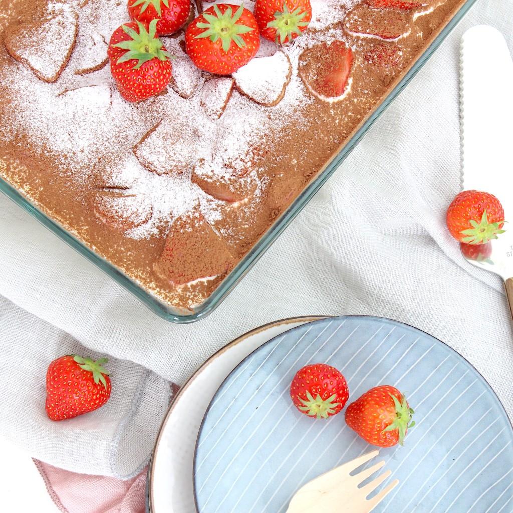aardbeien chocolade tiramisu