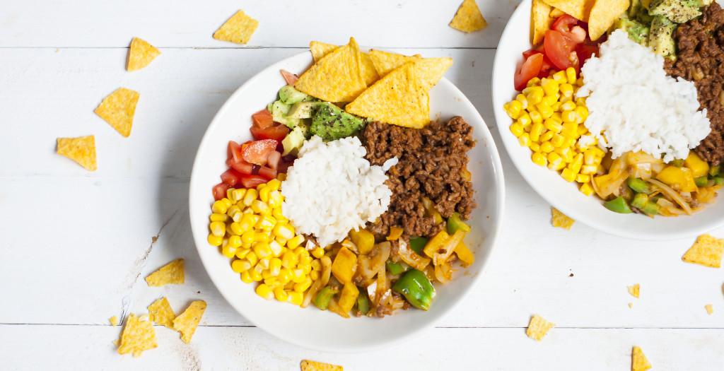 Kleurrijke burrito bowl