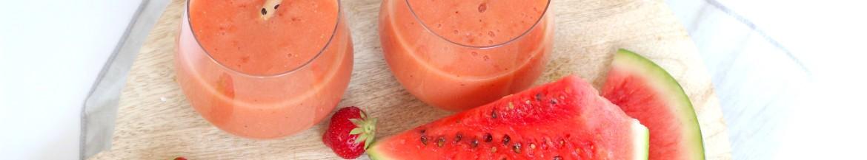 Zomers sapje van watermeloen en aardbei