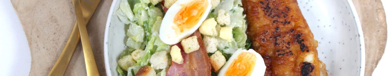 Caesar salad met een lekkerbekje uit de airfryer